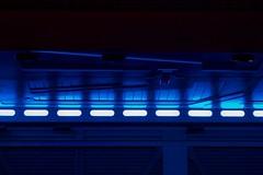 Blue (Nicolas -) Tags: park blue fiction light abstract paris france starwars lumire disneyland space scifi parc base espace attraction futur spaceport futurist nicolasthomas spatioport