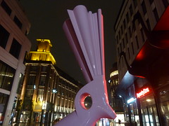 The Hague at night (JoséDay) Tags: nightshot kunst denhaag nightlight perspectief streetatnight noflashnightshot rainatnight peterstruyken andrévandewijdeven ilovejr thehagueatnight beeldengalery nederlandsebeeldhouwkunst