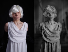 Photomanipulation Statue Project: Marble (live_forever_80) Tags: art girl statue stone digital photomanipulation photoshop alice marble pietra statua radium curtis farfalla ragazza marmo