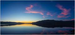 Dunedin (five15design) Tags: pink blue sea newzealand water evening still southisland dunedin aotearoa otagopeninsula sunsetsky purpleevening calmcolour