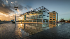 Humber Quay Sunset (Dave Holder) Tags: sunset colour building wet architecture clouds marina reflections quay kingston hull upon humber eastyorkshire canonefs1022mm canon70d daveholderphotography
