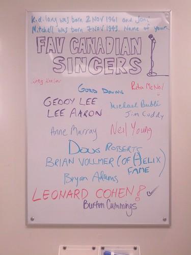 Fav Canadian Singers