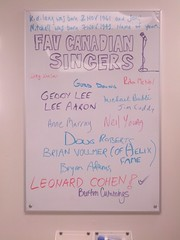 Fav Canadian Singers (mjthomas43) Tags: november people music musicians favorites favourites singers names canadians jonimitchell 1961 whiteboards 1943 kdlang vocalists 2015