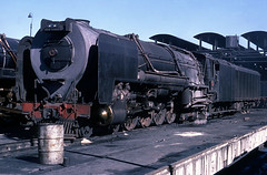 Condenser (Bingley Hall) Tags: railroad train southafrica transport engine rail railway steam transportation locomotive kodachrome 1976 sar 484 condenser nbl locoshed class25 deaar northbritish