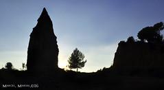 Les siluetes de la natura (Marcel Marsal) Tags: sol colors les de la cel natura arbres catalunya silueta blau calma ombres paisatge vegetaci occidental terrassa silenci hivern 2016 muntanyes valls foscor tranquilitat siluetes