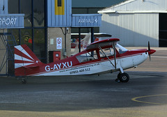 G-AYXU (wiltshirespotter) Tags: gloucestershire staverton bellanca citabria 7kcab