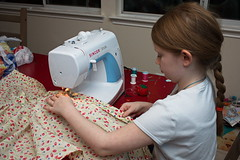 Jenny Sewing 29/366 (mbagwt) Tags: kids sewing jennifer matchpointwinner mpt497