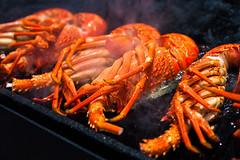 舌尖上的凯库拉 a bite of kaikoura (nzfisher) Tags: red newzealand food macro closeup canon 50mm bokeh smoke bbq canterbury delicious lobster seafood southisland crayfish