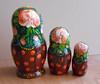 Nesting dolls (matryoshka) in Russian style Volhkvoskaya with sunflowers handmade. (Artworkshop1) Tags: handmade babushka matryoshka khokhloma