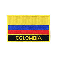 Colombia Flag Patch Embroidered Patch Gold Border Iron On patch Sew on Patch Bag Patch (edwardCepheus) Tags: gold colombia iron flag border nation sew patch patches embroidered