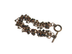 Copper shaggy chainmaille bracelet with black beads (Bramalfie Beads Etc.) Tags: uk black jump antique jewelry womens ring jewellery bracelet copper accessories shaggy seller beaded chainmail chainmaille teamcb bramalfiebeadsetc