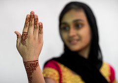 portrait of a young girl with henna tattooed hand in traditional bandari clothing, Hormozgan, Bandar-e Kong, Iran (Eric Lafforgue) Tags: show wedding portrait people girl fashion horizontal scarf outdoors photography clothing hands asia pattern iran muslim islam traditional ceremony marriage persia folklore celebration arab teenager textiles cheerful henna custom bodyart showing cultures oneperson ethnicity middleeastern persiangulf hennatattoo tattooed teenagegirl traditionalclothing hormozgan  bandari humanhand  1people  iro focusonforeground onegirlonly straitofhormuz  colourpicture bandarekong  iran034i2334