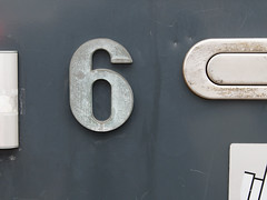 Week 6 (d_t_vos) Tags: door 6 abstract sign architecture mailbox calendar symbol bell outdoor character text number postbox week shield letterbox weeks six address doorbell doorframe housenumber 2016 streetnumber onexplore explored dickvos weeknumber dtvos numericcharacter weeknumberproject