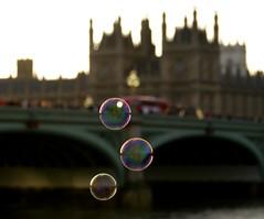 Westminster Bridge bubbles (Lucinda Offer) Tags: bridge reflection london westminster reflections housesofparliament bubbles bubble countyhall