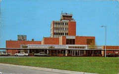 Akron-Canton Airport, Ohio (SwellMap) Tags: architecture plane vintage advertising design pc airport 60s fifties aviation postcard jet suburbia style kitsch retro nostalgia chrome americana 50s roadside googie populuxe sixties babyboomer consumer coldwar midcentury spaceage jetset jetage atomicage