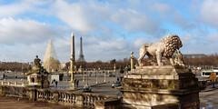 Place de la Concorde (fredo f) Tags: city paris france monument statue eiffeltower lion toureiffel concorde ville placedelaconcorde obelisque jeudepaume