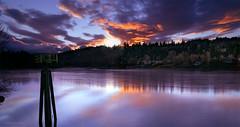 Sunset Composition (mav_g) Tags: longexposure sunset sky oregon reflections river colorful d200 willamette milwaukie