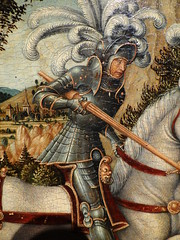 'St. George' (after Albrecht Altdorfer), German, Museo Gazzola, Piacenza, Italy (RO EL (Roel Renmans)) Tags: horse saint st germany painting george san dragon mort albert feathers sint grand german jorge armor lance knight after museo jordi armour piacenza georges salade joris giorgio drago caballero deutsch sankt armatura drache georg allemand maximilian schaller armadura armure albrecht gazzola 1511 fondazione harnas lhomme hornu istituto sallet boussu altdorfer