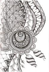 Tangle 221 (kraai65) Tags: drawing doodle zentangle zendoodle