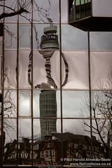 The BT Tower Reflected, London