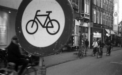 No cycling (Arne Kuilman) Tags: street film netherlands amsterdam 50mm iso400 nederland analogue agfa manualfocus xenar schneiderkreuznach apx400 scalefocus akarette akarelle believeinfilm