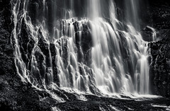 Alexander Falls (martincarlisle) Tags: alexanderfalls callaghanvalley whistler seatoskyhighway highway99 britishcolumbia canada waterfalls rock blackandwhite monochrome sonya7r
