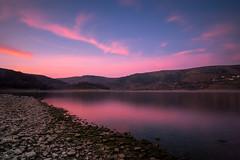 Lago di Campotosto, riflessi magici (jimmomo) Tags: sunset sky lake mountains italia bluehour montagna abruzzo campotosto laghi