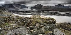 080820Iceland0382pan (GeoJuice) Tags: iceland graphics posters glaciers lateralmoraine geojuice kviarglacier