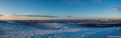Panorama of Swedish Lapland just after Sunrise / Arvidsjaur, Sweden (Niels Photography) Tags: travel panorama snow mountains cold nature colors beautiful sunrise canon circle landscape photography eos amazing cool view sweden north freezing visit swedish hills lapland polar scandinavia northern viewpoint province niels overview arvidsjaur 500d arjeplog