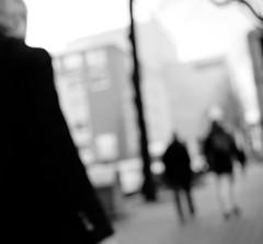Blurred acquaintance DSCF2185ir (Denkrahm) Tags: people urban monochrome rotterdam strangers highcontrast blurred denkrahm distance moderntimes vagueness