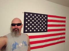 F is for Flag & Five O'clock Somewhere (cjacobs53) Tags: blue red usa white sunglasses beard stars fun goatee stripes flag bald cj monthlyscavengerhunt alphabet jacobs february clarence monthly hunt msh scavenger selfie fiveoclocksomewhere jacobsusa msh0216 msh021610