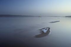Falckenstein__009 (liebeslakritze) Tags: lighthouse beach couple ducks calm balticsea bluehour kiel leuchtturm falckenstein entenpaar windstille