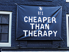 Cheaper than therapy bar in AMSTERDAM (DRUified) Tags: amsterdam thenetherlands travelingineurope rebeccadru rebeccadruphotography misticooper spiritualalchemistmisticooper 6countriesin28days thesoulphotographer