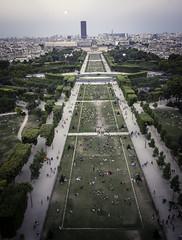 Paris 2015 (simonwalker68) Tags: city sunset red paris skyline architecture landscape eiffeltower notredame champdemars