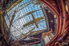 Up in the Air.jpg (Dan NYNJ) Tags: sky newyork mall airplane fisheye rochester syracuse canopy skylite destinyusamall