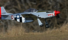 Meg (jrussell.1916) Tags: aircraft airplanes kansas shawneemissionpark p51mustang remotecontrolaircraft canon400mmf56lusm airplanesinflight