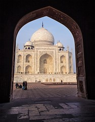 Taj Mahal, Agra, India (Gabriela Iacobuta) Tags: door light india contrast asia ngc tomb taj mahal agra tunnel seven marble entry wonders 5photosaday