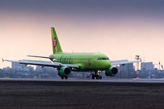 S7 Airlines A319 (denlazarev) Tags: winter sunset sky clouds plane canon airplane evening fly photo airport russia aircraft aviation air landing airline airbus airlines runway spotting airliner rostovondon lightroom s7  a319 oneworld   vpbtx urrr