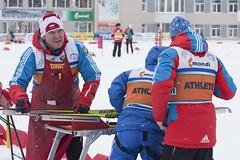 Смазка лыж между этапами