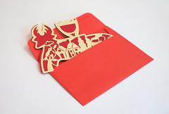 DSCF5037 (Elsita (Elsa Mora)) Tags: christmas paperart card redandwhite papercraft holidaycard papercutout elsita papercutting elsamora