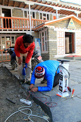 Bike Repair Station | Fahrrad Reparatur Station | Public Air Pump | IBOMBO (IBOMBO) Tags: nepal public station bike bicycle stand reparatur flat air rad tire tools pump repair maintenance fahrrad toolkit racks selfservice radweg bikeparking luftstation ibombo