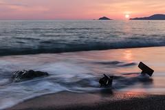 Punta Corvo (Enrico Cusinatti) Tags: longexposure sunset sea rocks tramonto mare liguria rocce spiaggia scogli lungaesposizione montemarcello puntacorvo enricocusinatti