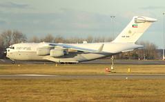 KAF-343 (Rob390029) Tags: plane newcastle airport force aircraft aviation military air transport jet cargo international transportation kuwait c17 boeing globemaster freighter ncl kaf egnt kaf343