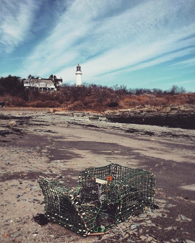 Broken #lobster trap at #twolights . #maine #lighthouse #rockycoast #lobsterfishing