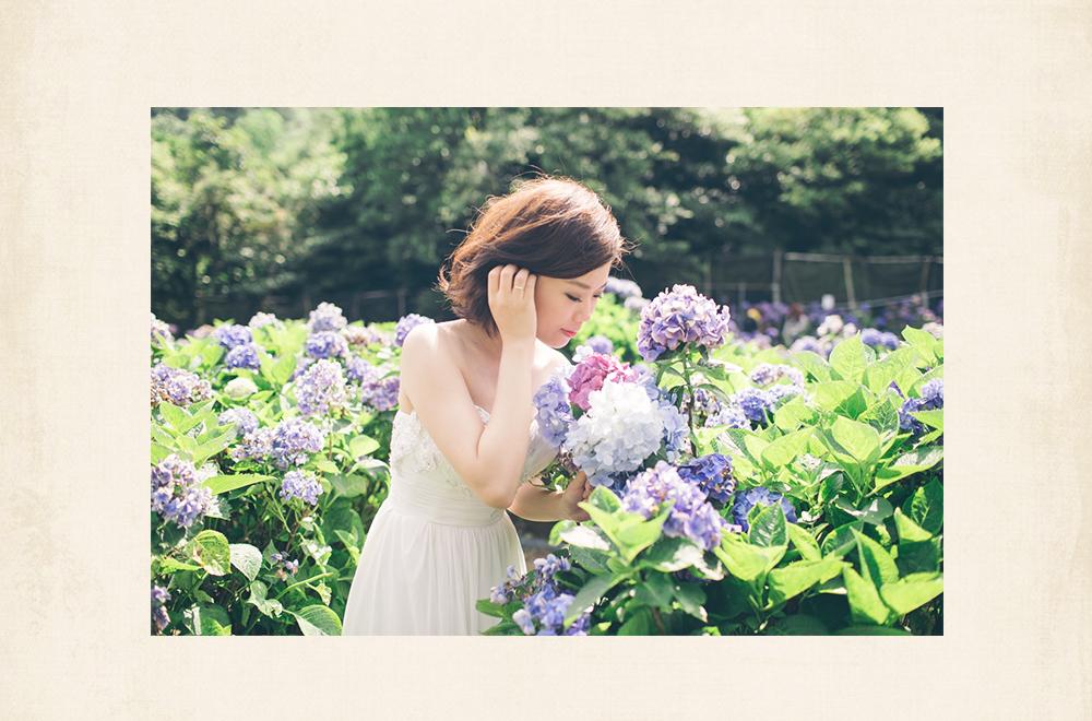 繡球花季自助婚紗外拍