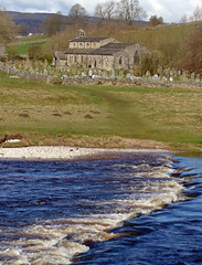 Linton Church from across R. Wharfe (Majorshots) Tags: yorkshire steppingstones linton grassington wharfedale riverwharfe lintonchurch thedalesway daleswayfootpath churchofsaintmichaelandallsaints