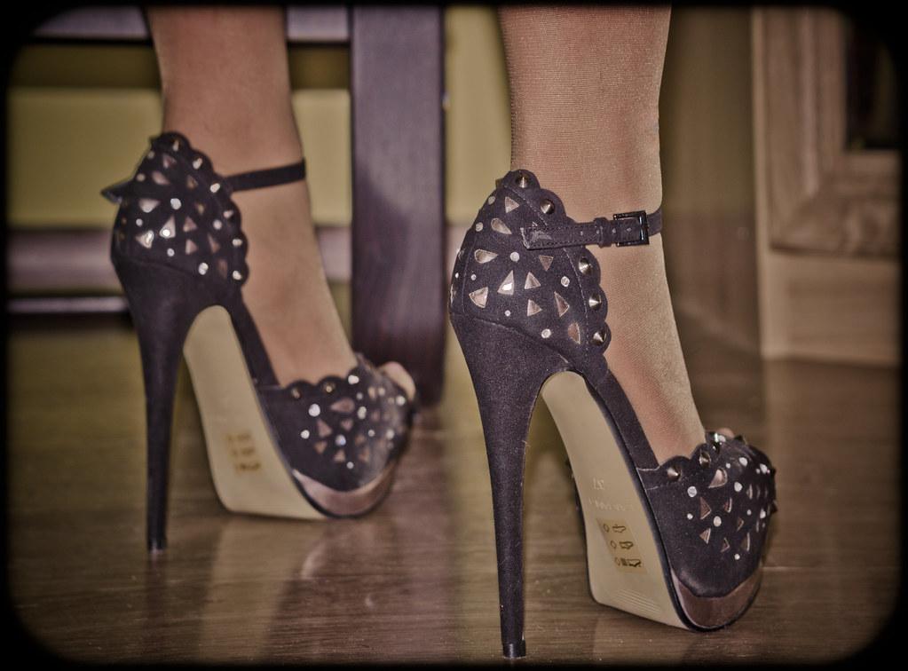 Not right homemade wife lingerie high heels