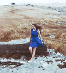 The Moorland Girl (Elliot Tratt) Tags: girls portrait people girl grass rock digital canon hair square outside outdoors person eos rocks cornwall dress wind outdoor perspective teen dreams teenager moors dreamy grasses concept he moor desolation dreamscape teenage northcornwall 2016 brenizer 400d