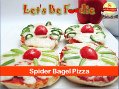 Spider_Bagel_Pizza (letsbefoodiee) Tags: cooking breakfast dinner recipe lunch indian puff desserts brunch sweets snacks recipes teatime momos khana maincourse mithai nashta eveneingsnacks