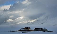 The dog kennel. Longyearbyen, Svalbard, Norway (JRJ.) Tags: winter sky cloud mountain norway landscape lumix amazing outdoor svalbard arctic spitsbergen longyearbyen gx7
